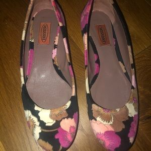 Authentic mission suede floral flats